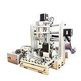 CNC 3020- Kit de máquinas para grabar y tallar madera, 300W, 4ejes, puerto USB, 3D, perforación y fresado cnc3020