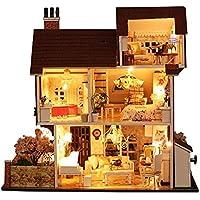 Puppenhaus Bausatz Aus Holz Mit Kompletter Einrichtung Inkl Beleuchtung   Suchergebnis Auf Amazon De Fur Puppenhaus Bausatz Spielzeug