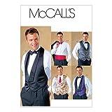 McCall 's Schnittmuster 4321Herren Weste Größen: S-M-L