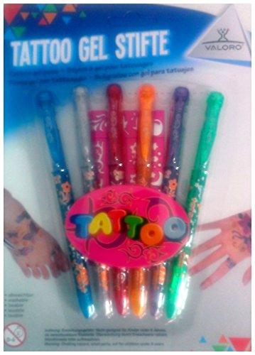 Preisvergleich Produktbild Valoro Tattoo Gel Stifte + Schablone
