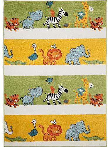 dschungel teppich benuta Kinderteppich Noa Africa Multicolor 120x170 cm | Teppich für Spiel- und Kinderzimmer
