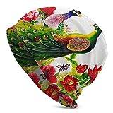 Nigel Tomm Beanie-Mütze, bequem, weich, mit japanischen roten Blumen und magischen modischen warmen Mützen, Unisex