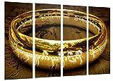 Cuadro Fotográfico El anillo de poder, El Señor De Los Anillos Tamaño total: 131 x 62 cm XXL