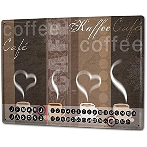 Calendario perpetuo Cucina Strassek tazze di caffè Magnetico