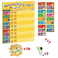 WEY&FLY Behavior Reward Chart Star Chart My Responsibility Chart for Multiple Kids Family Calendar Board Planner,Children
