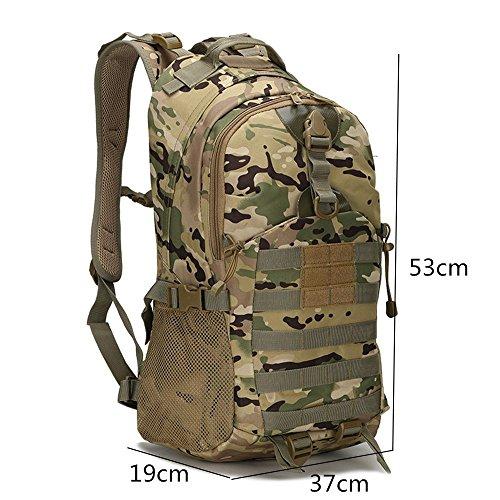 WanderrucksackOxfordcanvasRucksackCamouflagedraußenReitenPacksackcampingBergsteigenTasche(45L) B
