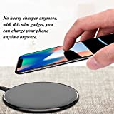 #9: Taslar™ Wireless Charger, Ultra-thin Qi Charging Pad for Apple iPhone 8 / 8 Plus, Iphone X, Samsung Galaxy S6, S6 Edge, S6 Edge+, S7, S7 Edge, Note 5, Note 7, s8, s8 Plus, Lumia 820/830/920/930/1020/1050/1520, Nexus 4/5/6, LG G2/G3/G10, V30+(Black)