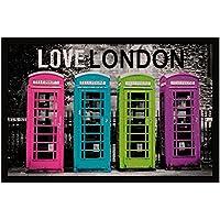 Tapis Déco  - 1740316, Tapete De Entrada Rectangulo , 40 X 60 Cm , Love London , Photoprint