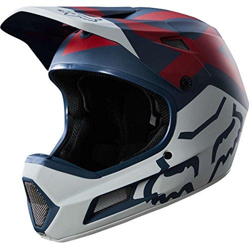 Fox Rampage Comp Preme Casco, Blue/Red, tamaño M