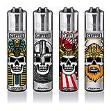Clipper® aanstekers - Skulls #15-4 Set