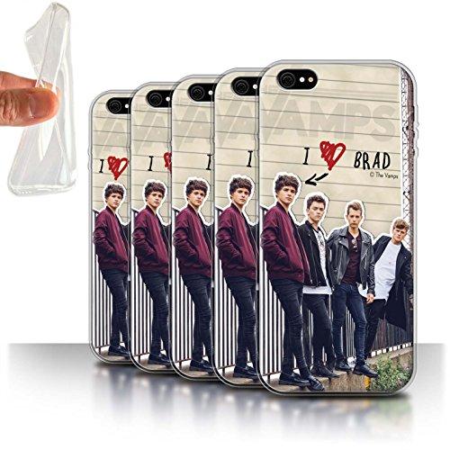 Officiel The Vamps Coque / Etui Gel TPU pour Apple iPhone 6+/Plus 5.5 / Pack 5pcs Design / The Vamps Journal Secret Collection Pack 5pcs