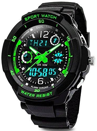 Digital Uhren für Kinder Jungen - Wasserdicht Outdoor Sports Digitaluhren Analog Armbanduhr mit Wecker/Timer/LED-Licht, Elektronische Stoßfest Handgelenk Uhr für Jugendliche Kinderuhren ... (1060)