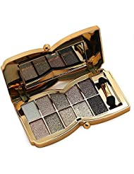CINEEN 10 Colours Diamond Pallet Shining Foundation Eyeshadow Palette with Double-sided Makeup Stick Tool Set