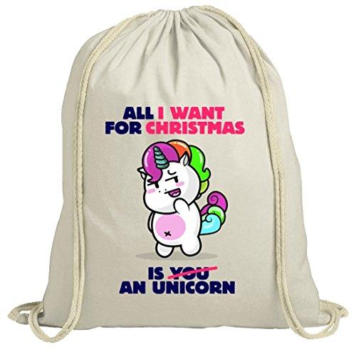 Idea Regalo Natalizio Natura Borsa Da Palestra Borsa Da Palestra Con Unicorno Natale Motiv Nature