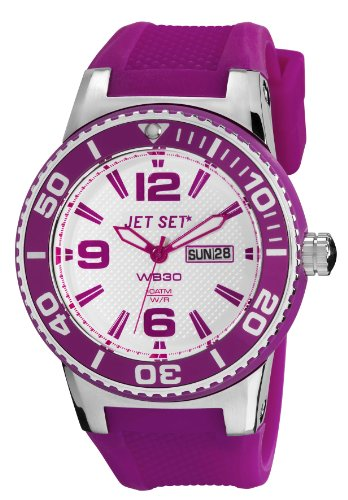Jet Set Woman Unisex Analogue Watch with White Dial Analogue Display - J55454-160_PURPLE