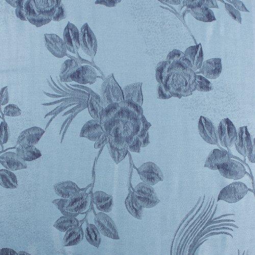 Sakkas Châle / Echarpe / Etole Léger Deux couleurs Rose Floral Design Contours Pashmina ( Au choix from 12 Couleurs ) Bleu