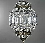 Style lanterne marocaine Antique en laiton et acrylique Mill Lighting Lustre