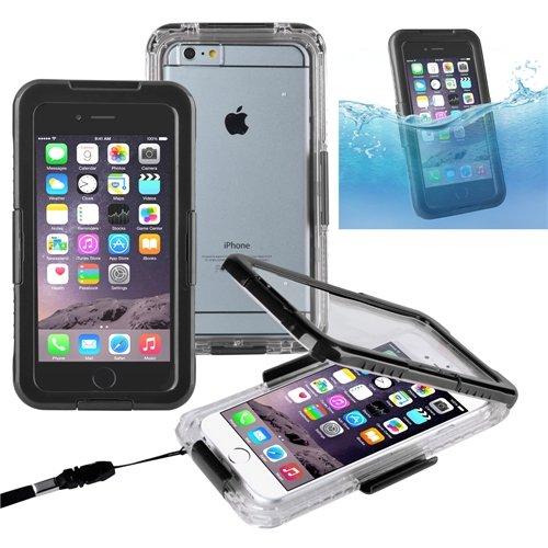 """ChannelExpert Wasserdicht Cover Waterproof Case Outdoor Schutz Hülle Handy Wasserfest Tasche für Apple iPhone 6 Plus 5.5"""" blau Schwarz"""