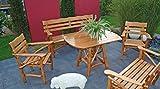 Knüppelholz- Garnitur MOSEL GROSS, 4-teilig, Eiche + Buche