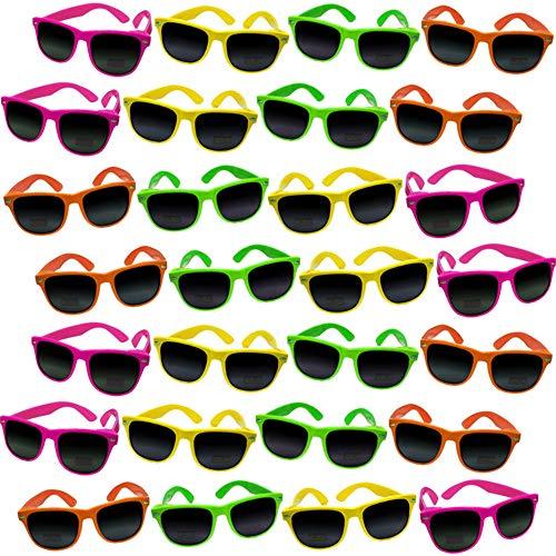 German Trendseller® - 12 x Sonnenbrille - Neon - Nerd - Deluxe Design Brille ┃ UV 400 Protection ┃ CE ┃ Versand aus Deutschland ┃ 12 Sonnenbrillen