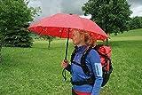 Euroschirm birdiepal octagon der Sonnen-, Wander-, Regen- & Trekkingschirm Farbe rot