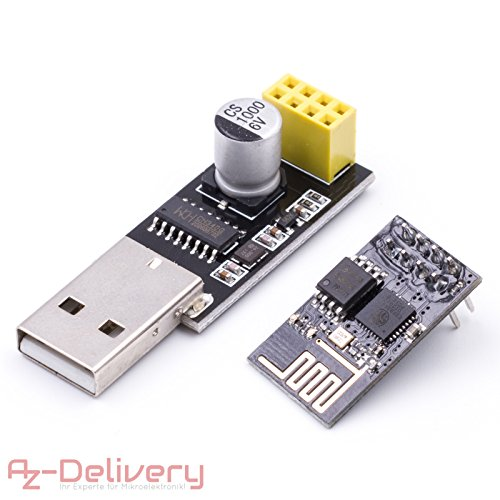 Extra Wireless Controller (AZDelivery ESP8266 ESP-01 mit USB-Adapter Wlan WiFi Modul für Arduino, Raspberry Pi + gratis eBook!)
