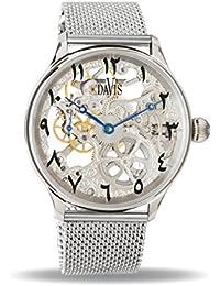 655b6bf3852c Davis Reloj Esqueleto para Unisex Adultos de Mecánico con Correa en Acero  Inoxidable 0890MB East