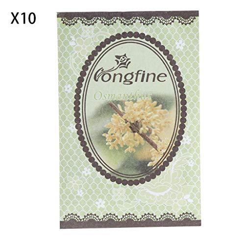 Xuniu 10 Stücke Natürliche Gewürze Lufterfrischer Parfüm Sachets Papiertüte Auto Raumduft