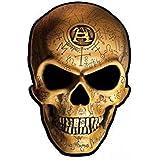 1art1 70120 Gothic - Omega Skull, Alchemy Poster-Sticker Tattoo Aufkleber 9 x 9 cm