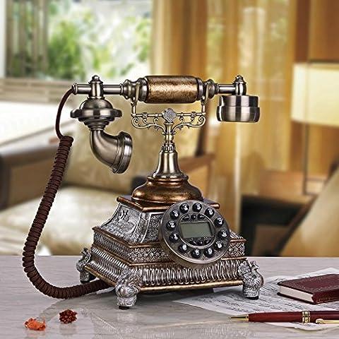 25 * 24 * 27 cm resina creativa dipingere telefono classico ruggine, pavone intagliati a mano antico ornamenti decorativi di telefono rete fissa
