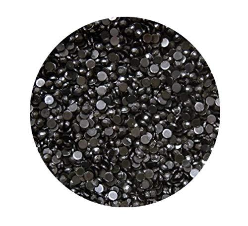 Strass Rond Noir, 2 mm, env. 100 pièces