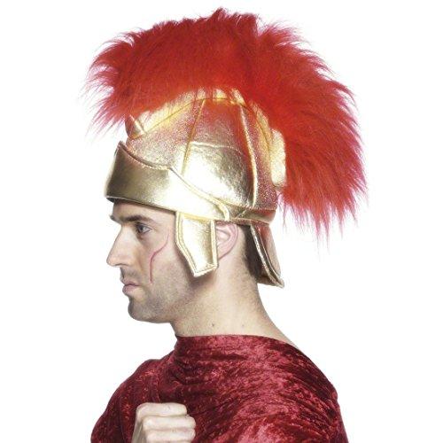 Römischer Helm Soldaten Helm gold Römerhelm Gladiator Krieger Federhelm Kriegerhelm Soldatenhelm Kostüm (Helm Kostüme Soldat Römischer)