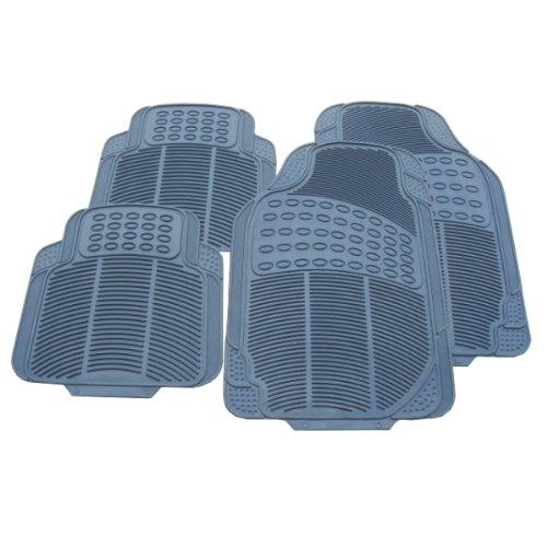 Preisvergleich Produktbild Akhan FUM05G - Fußmatten Set Grau Gummi 4-Teilig