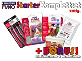 STAEDTLER FIMO Soft STARTER Komplett-Sparset 20 tlg. + BONUS Modelliermasse & Effektform