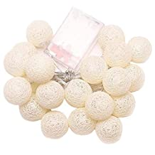 Winsopee Led Cotton Ball Party Decor String Light - Gold
