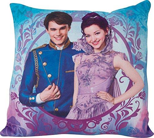 FUN HOUSE 712488 Disney Descendants Coussin carré 35 x 35 cm pour Enfant Poly Coton, Violet, 35 x 14 x 35 cm