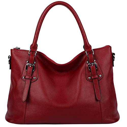 Yaluxe Women's Vintage Genuine Leather Shoulder Tote for sale  Delivered anywhere in Ireland