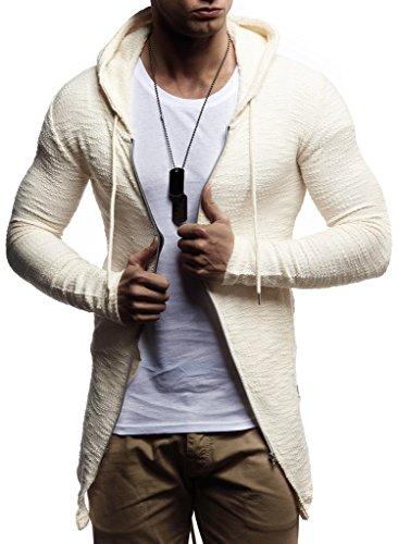 LEIF NELSON Herren Sweatjacke Hoodie Kapuzenpullover Kapuzen Jacke Freizeitjacke Regenjacke Pullover Sweatshirt Basic
