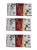 Generico ricevi 120 Cartelle assortite smorfia Colorate e Numerate Accessori per Tombola Tradizionale Napoletana Gioco Natale Giochi Societa' Tanti Giochi nel Nostro Negozio Amazon VAR