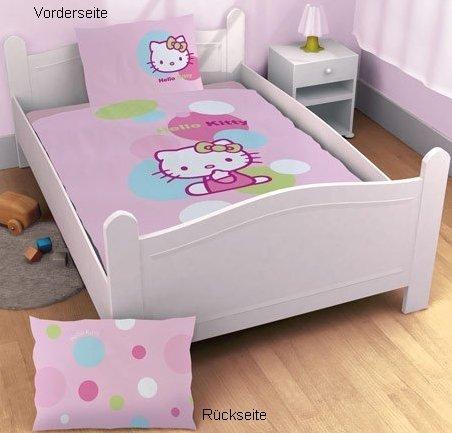 CTI 037606 Baby-Bettwäsche Hello Kitty Balloon / 100 x 135 + 40 x 60 cm (Kitty Hello Bettwäsche Baby)