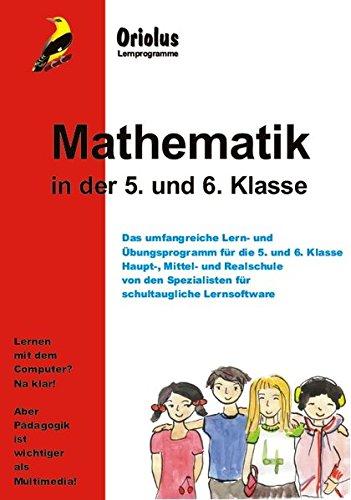 Mathematik 5. und 6. Klasse - Schullizenz für PC 5 Jahre, updatefähig: Lernprogramm Mathematik - für die 5. und 6. Klasse Hauptschule, Mittelschule, Realschule für Windows 7-10ff und Windows-Netzwerk