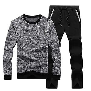 Herren Trainingsanzug Jogging Anzug Baumwolle Basic Sportbekleidung Fitness Training Sportanzug Jogginganzug…