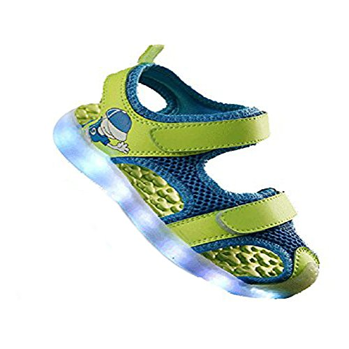 [Kinder Led Schuhe] Kidslove Led schuhe kinder LED Sportschuhe Kinder USB Aufladen 7 Lichtfarbe Leuchtend Kinderschuhe PU Sneaker Turnschuhe für Jungen Mädchen Farbe 1