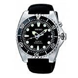 SEIKO SKA371P2 Kinetic Dive Silver-Tone Watch with rubber strap