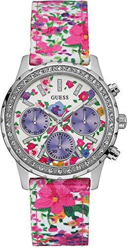 Guess Reloj Análogo clásico para Mujer de Cuarzo con Correa en Plástico W0903L1