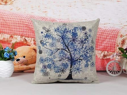 LFMDKDT bäume Vier Jahreszeiten Kissen wohnkultur Sofa dekokissen dekorative Kissenbezug conjines Winter (Dekorative Kissen Winter)