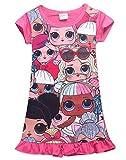 Vannie Lovely Dolls Mädchen Kleider Schlafanzug Nachthemd Locker Prinzessin Rock Schlauch Kleider gutes Geschenk für Mädchen Tochter von 4 bis 10 Jahren RO 130