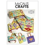 McCall 's Patterns M6340Kopfkissen, Bettdecke Zip Fall, Wickeltasche/Tote, eine Größe nur