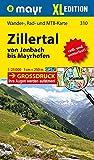 Zillertal XL - Von Jenbach bis Mayrhofen: Wander-, Rad- und Mountainbikekarte. GPS-genau. 1:25000 (Mayr Wanderkarten) -