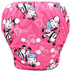 Pañales bañadores ❤️ Amlaiworld Pañal Bañador Bebé recién nacido niño niña Lindo patrón trajes de baño Natación troncos Pantalones cortos de pañales 0-3 Años (Multicolor 18, 0-3 Años (ajustable))